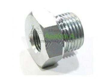 """Tapón reductor alta presión hidráulica hembra 1/4"""" macho 3/8"""""""