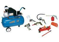 Kit compresor 50 litros con herramientas