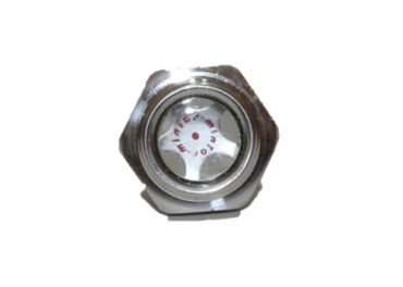 "Visor hexagonal aluminio 3/8"""