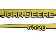 Juego de pegatinas capot tractor John Deere 6520