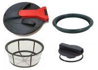 Tapas, filtros de cesto y accesorios